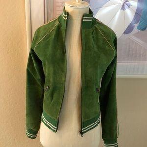 Joe's Green Suede Bomber Jacket